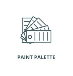 paint palette line icon linear concept vector image