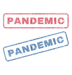 Pandemic textile stamps vector