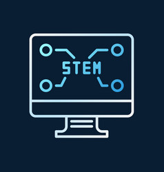 pc with stem text concept outline colored vector image