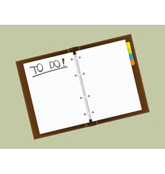 Personal diary vector image