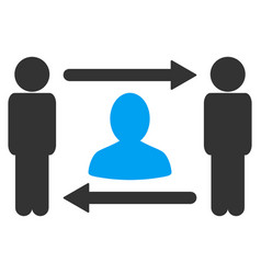 persons friend exchange icon vector image