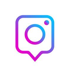photo camera icon as social media notification vector image
