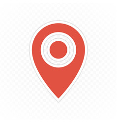 pin map navigation icon vector image