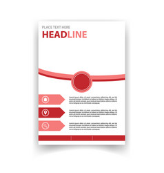 poster red circle template design image vector image