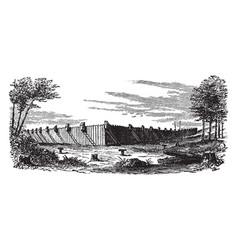 Prison at millen vintage vector