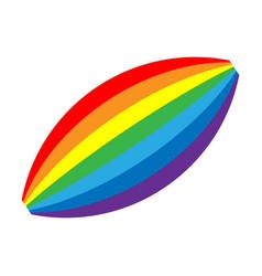 rainbow icon shape cartoon isolated on white vector image