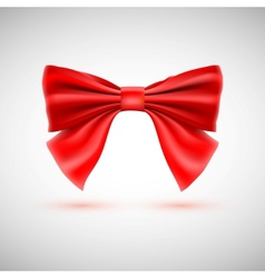 Red festive bow vector