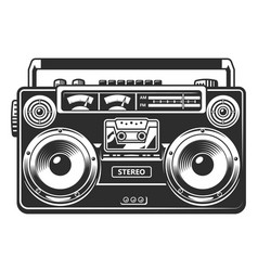 Retro outdated recorder vector