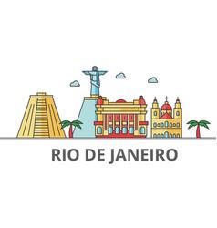 rio de janeiro city skyline buildings streets vector image