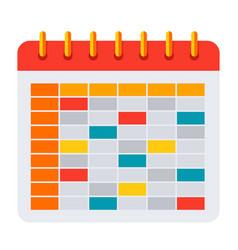 school timetable icon vector image