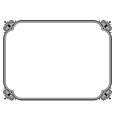 Simple black ornamental decorative frame vector