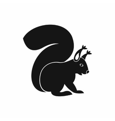 Squirrel icon in simple style vector