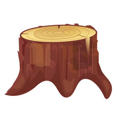 stump cut icon natural industry rough timber vector image