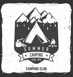 summer camping badge vector image
