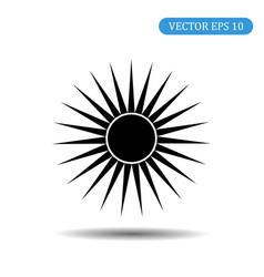 sun icon eps 10 vector image
