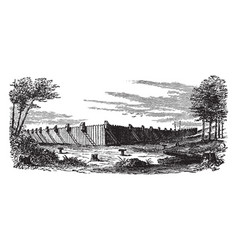 The prison at millen vintage vector