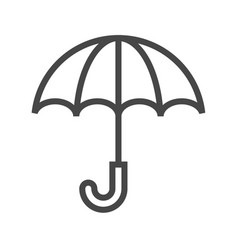 umbrella thin line icon vector image
