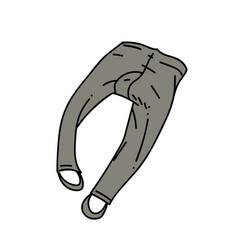 Underpants cartoon hand drawn image vector