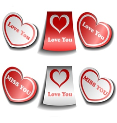Valentine sticker set vector image