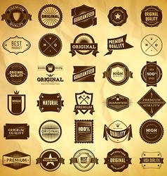 Vintage labels big collection 2 vector