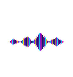 wave sound background music flow soundwave vector image