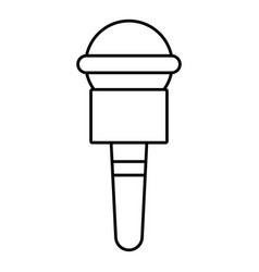 microphone icon outline style vector image