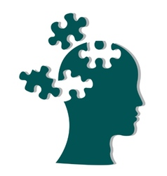 People head with puzzles vector image