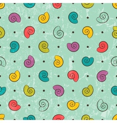 Seamless texture with colored shells vector image