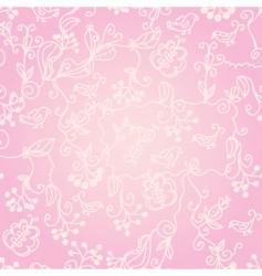 birds wallpaper pattern vector image vector image