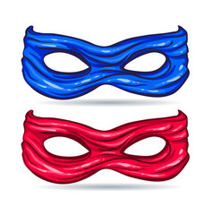 blue and red mask for face character super hero vector image vector image