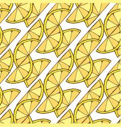 lemon seamless pattern geometric background for vector image vector image