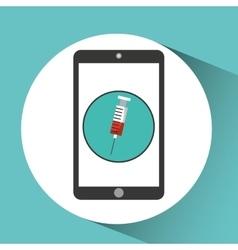 medical health application syringe design vector image vector image
