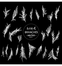 Decorative hand in the form of fir branches vector image vector image