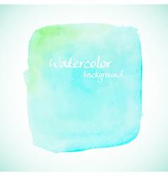 Green watercolor element for summer designs vector