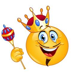 king emoticon vector image