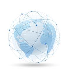 modern globe network vector image
