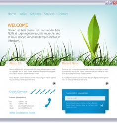 web page layout vector image vector image
