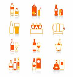 drink bottles icon juicy series vector image vector image