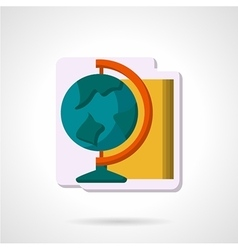 Flat color geography symbol icon vector image vector image