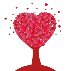 tree heart shape design icon vector image