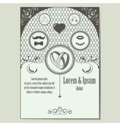 Vintage wedding invitation with place for text vector image vector image