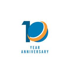 10 years anniversary global template design vector