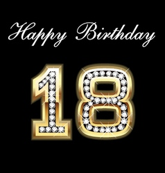 18 birthday vector image