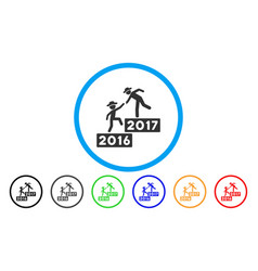 2017 business training steps rounded icon vector image
