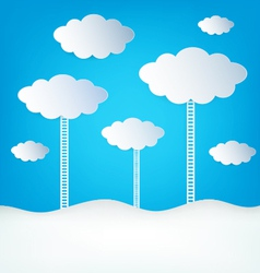 Abstract design Clouds vector