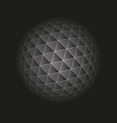 abstract geometric sphere from triangular faces vector image