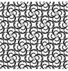 Abstract seamless pattern of interwoven vector
