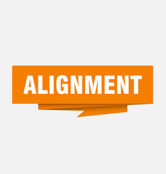 Alignment vector
