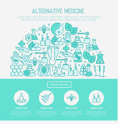 alternative medicine concept in half circle vector image