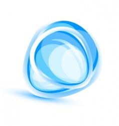 Aqua element background vector